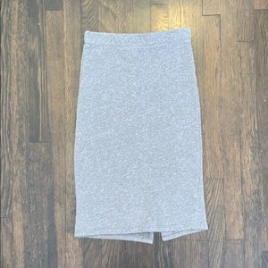 Cozy fitted midi skirt with back slit size small